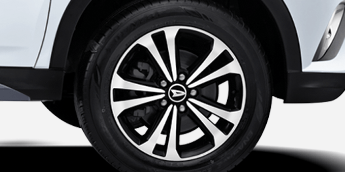 17 Inchi Polished Alloy Wheel With Black Paint (R All)